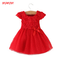 2015 Summer Bow Little Girl Clothing Ball Gown Children Kids Tutu Baby Girls Dress Baby Dress