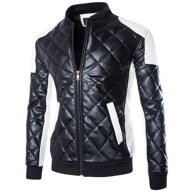 2016 Marca Hombre Chaquetas de Cuero, MC1599 Hombres Abrigos Bombardero Jaqueta Couro masculino Plus Tamaño 4XL/5XL jaqueta de couro masculina