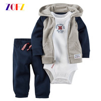 ZOFZ Baby Boys Clothes Sets 3Pcs Lot New Baby Rompers Short Sleeve 100 Cotton Baby Girls