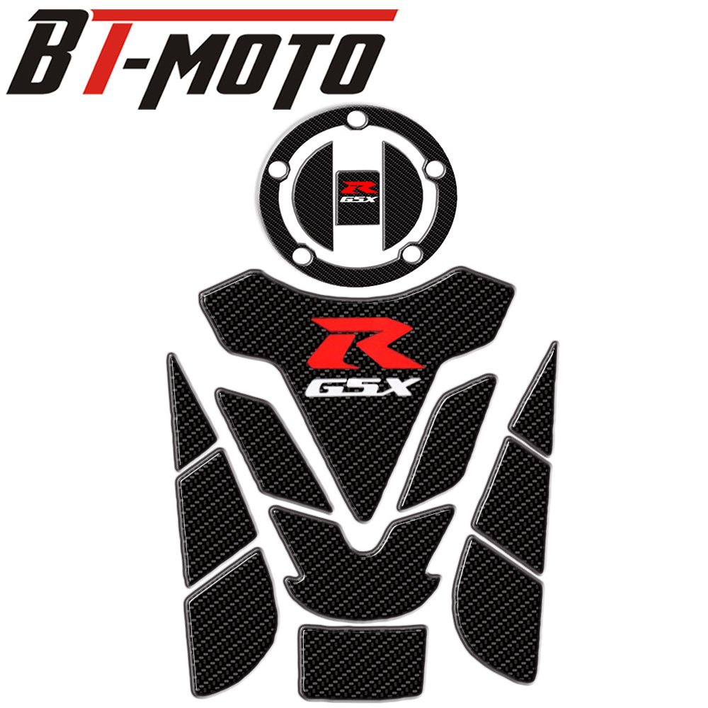 3D Carbon Fiber Motorcycle  Tank Fish Bone Decoration Stickers Fit For Suzuki GSXR 600 750 1000 K1 K3 K4 K5 K6 K7 K8 K9