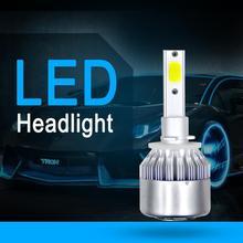 Универсальный высокое Мощность авто лампы H7 H4 H11 H1 H3 H13 880 9004 9005 9006 HB1 HB2 HB3 HB4 C6 автомобиля светодиодный фары 6000 К белый свет