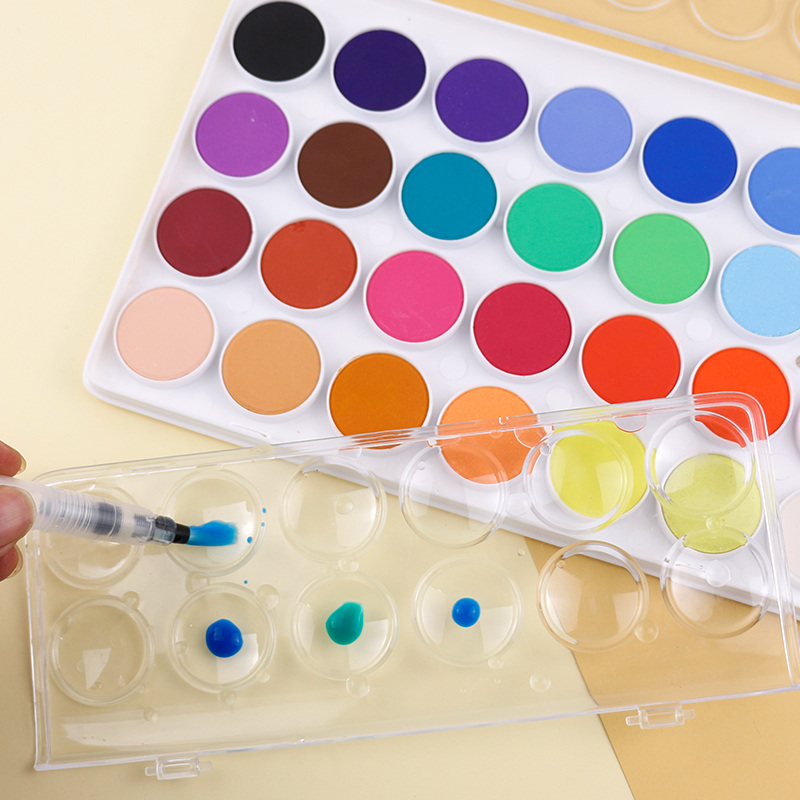 Solid watercolor paint 28 36 color sketch cake set children transparent watercolor paint art supplies in Water Color from Office School Supplies
