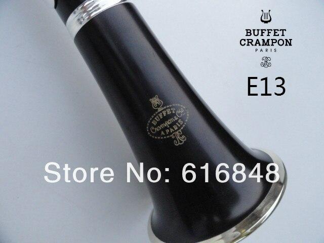 Buffet de copie Crampon & Cie A PARIS 1986 E13 Bb clarinette avec étui haute qualité bois de santal ébène Tube nickelé clarinette