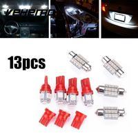 13PCS T10 31mm Car Interior Dome Combination Light Kit White LED License Light