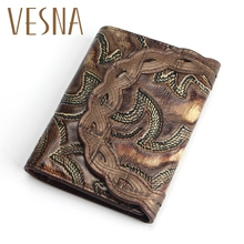 Hot Selling Genuine Leather Wallet Women  Around Purse Flower Pattern Lady Wallets Bags Handbags,