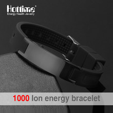 Power Energy Wristbands Balance Ion Magnetic Therapy Fashion Silicone Bands Bracelets Therapy Body Keep Your Healty Healing Pain(China)