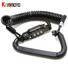KEMiMOTO Motorcycle Accessories Password Code Bike Cable Lock Combination lock Retractable Cycling Helmet Lock MT07 MT09 R25