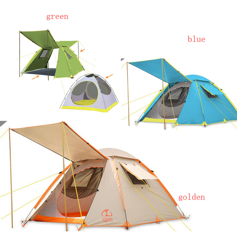 3 - 4persons fully-automatic tent automatic camping family tent in good quality family travel tent royal london royal london 21165 02