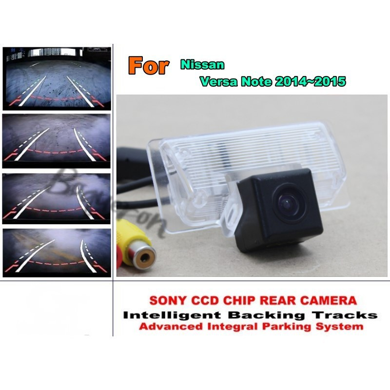 Car Intelligent Parking Tracks Camera / For Nissan Versa Note 2014~2015 HD Back up Reverse Camera / Rear View Camera lyudmila car intelligent parking tracks camera for mazda 6 mazda6 m6 sedan 2013 2017 hd car back up reverse rear view camera