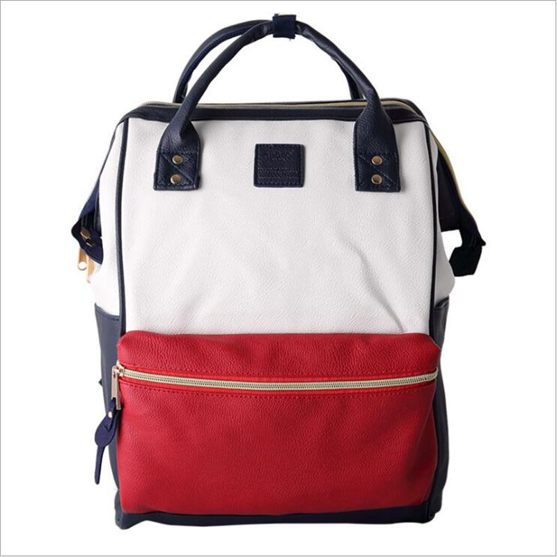 PU Leather Ring font b Backpack b font School Bags For Teenagers Male Anello font b