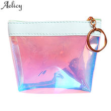 Aelicy Girls coin purse sweet Jelly women wallets fashion Transparent short coin pouch 2019 drop ship bolso nina portamonete(China)