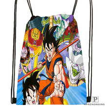 Custom Dragon ball z Drawstring Backpack Bag Cute Daypack Kids Satchel Black Back 31x40cm 20180611 02