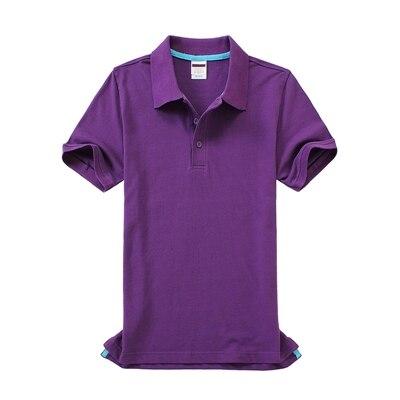 Черные, синие, белые, серые, желтые женские рубашки поло с коротким рукавом, женские повседневные рубашки поло, свободные женские рубашки больших размеров, хлопковые рабочие Топы - Цвет: Лаванда