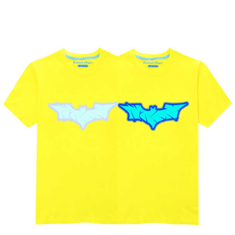 HTB1TH0SR4TpK1RjSZR0q6zEwXXai - Luminous Short Sleeves T-Shirt For Boys T Shirt Spiderman Christmas Teen Girls Tops Size 3-15 years Teenage Toddler Boy Tshirts