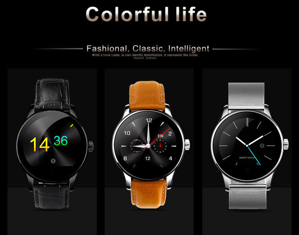 Makibes K88H Bluetooth Smart Watch Classic Health Metal Smartwatch Heart Rate Monitor for Android ISO Phone Remote Camera Clock 3