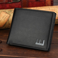 Dexbxuli New Men S Short Soft Leather Wallet Business Style Ultra Thin Wallet Card Package