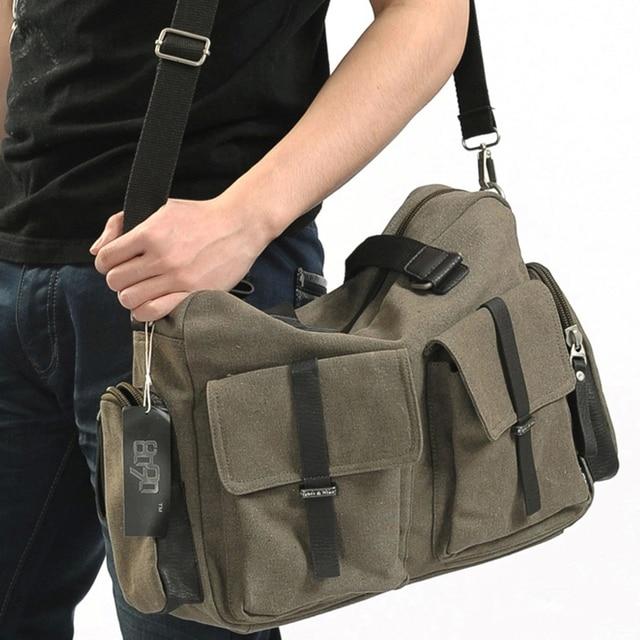 2649472450 New 2018 Famous Brand Mens Designer Bag Top Canvas Shoulder Bag 15.6 Inch  Laptop Handbag Fashion Men s Travel Bags