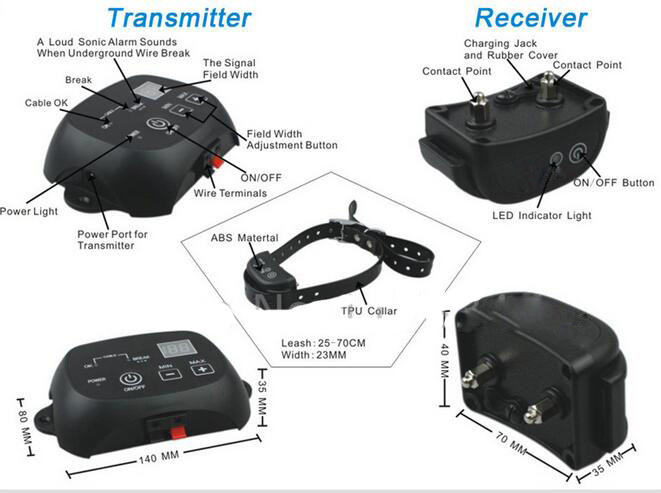 Wireless Electric Dog Fence Shock Collar System