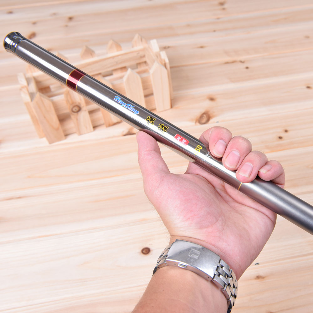 Carbon fiber portable telescopic fishing rod ultralight for Telescoping fishing pole