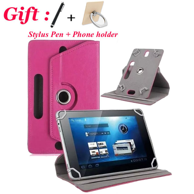 For BQ Edison 3 <font><b>10.1</b></font> WiFi <font><b>10.1</b></font> inch <font><b>360</b></font> Degree Rotating Universal PU Leather Cover Case WITH CAMERA HOLE + Gift image