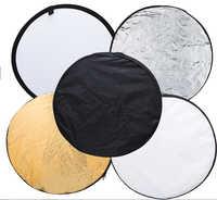 Envío Gratis 5 en 1 110 cm 43 luz plegable portátil redondo fotografía Reflector para estudio Multi foto disco + envío gratuito