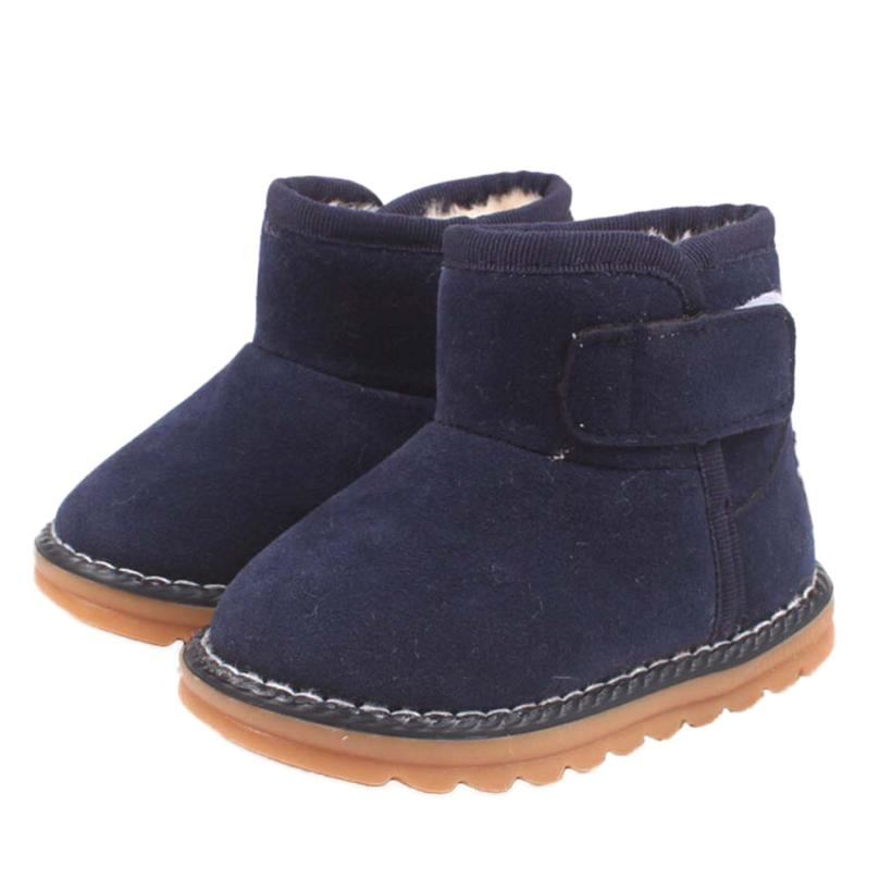 Winter Warm Fashion Baby Girls Baby Shoes Infant Toddler Baby Girls Boots Boys Kid Winter Thick Snow Boots Fur Shoes