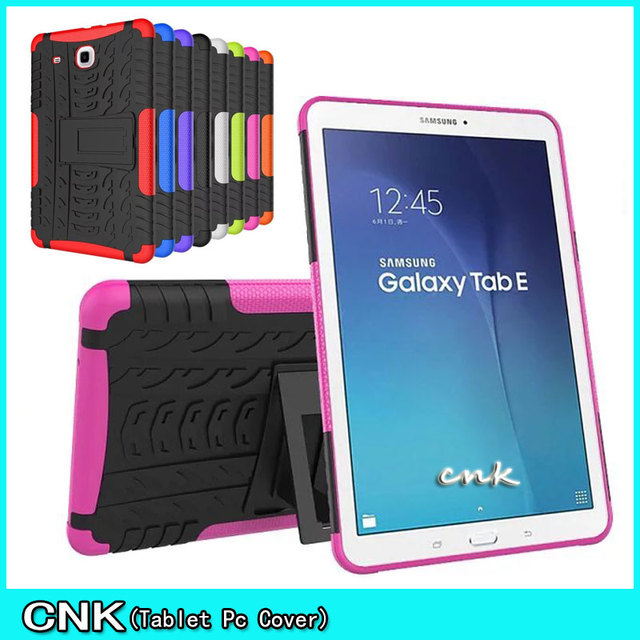 sale retailer f197c b4536 US $10.09 |New For Galaxy Tab E 9.6 Heavy Duty Silicone Hard Case Cover  Stand Tablet For Samsung Galaxy Tab E 9.6 T560 T561 9.6