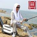 Homens de pesca protetor solar verão respirável longo-sleeved outono seda gelo protetor solar UV rápido-secagem de pesca das mulheres terno