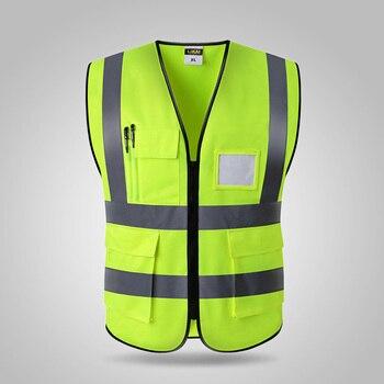 3e07f29cf62 SPARDWEAR Hola vis chaleco de seguridad reflectante de logotipo de impresión  de ropa de trabajo envío