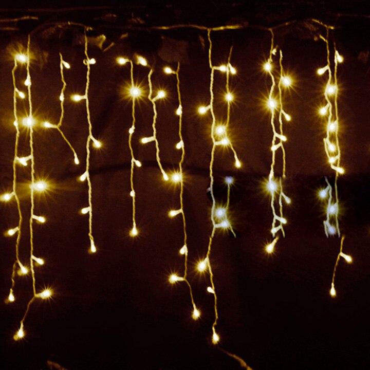 Christmas Lights Outdoor Waterproof 3 5m Droop 0 3 0 5m Curtain LED