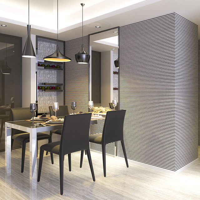 Black And Grey Vertical Striped Wallpaper White Concept Horizontal Stripes Wall Paper Roll For Living