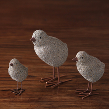 Sandstone texture Resin Chicken Figurines Creative Nordic tabletop Handicraft Animal miniature Statues Home Decor Gift