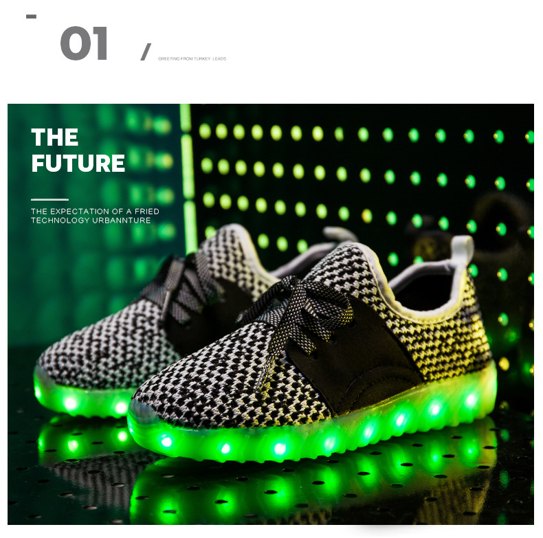 Led Sneakers YZY v2 Kids 14