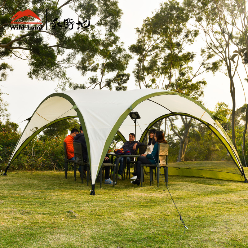Wildland Dome Gazebo large family tent sun shelter waterproof awning oversize outdoor c&ing canopy garden tent gazebo-in Sun Shelter from Sports ... & Wildland Dome Gazebo large family tent sun shelter waterproof ...