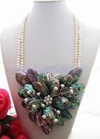 Beautiful! Pearl&Abalone Shell Necklace