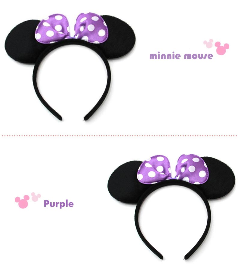 Mouse Ears Headband Children Birthday Party Supplies Boys Mom Baby Hair Accessories Decoration Shower