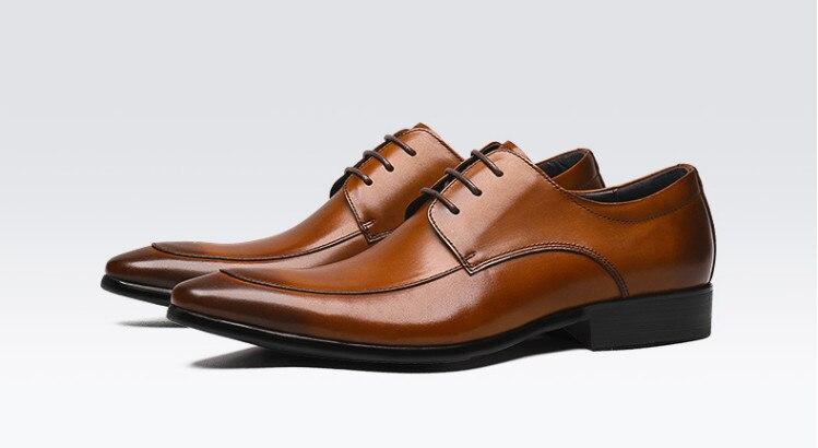 Los Marea Negocio Nuevo Pic De Europea Británico Pic Boda as Transpirable Solos Tallados Brock Vestido Cuero Señaló Hombres Zapatos Versión As qanwx4n