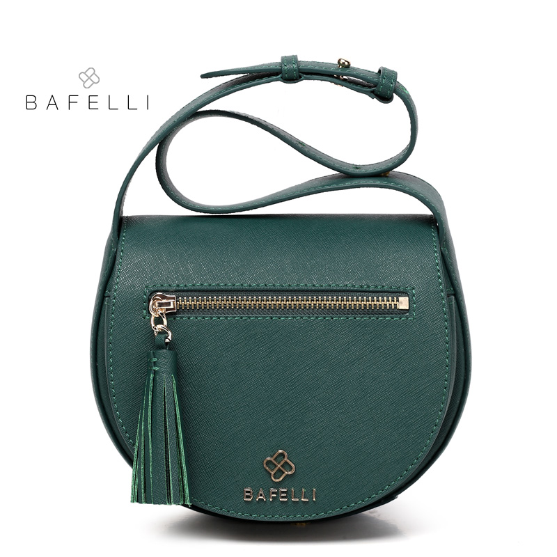 BAFELLI split leather vintage tassel saddle shoulder bag bolsa feminina luxury handbags women bags designer messenger bag