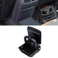 POSSBAY Car Drink Holder Glove Box for VW Jetta MK5 Sedan/Wagon 2006 2011 Beige/Black Central Console Armrest Rear Cup Holder