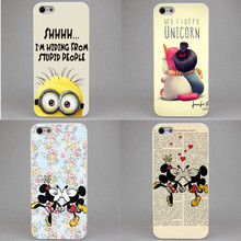 Capinha para Celular Meu Unicórnio Agnes Mickey Mouse kissing Rígido Case Capa para o iphone SE 4 4S 5 5S 5c 6 S 6 Plus 7 7 Plus