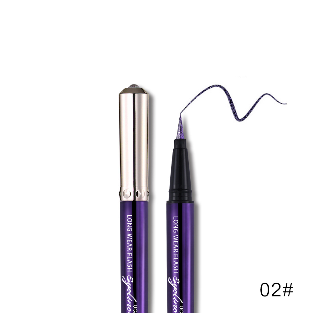 Ucanbe makeup glitter eyeliner pencil 5colors purple blue green eye liner waterproof long lasting liquid white eyeliner AU045 5