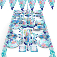 Party Theme Cartoon Characters Party Supplies Sets Cutlery Cake Plate Tablecloth Wedding Birthday Party Decoration Surprise Kids