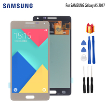 цена на AMOLED LCD for SAMSUNG Galaxy A5 2015 Display Touch Screen Replacement For SAMSUNG Galaxy A5 A500FU A500 A500F A500M Screen LCD