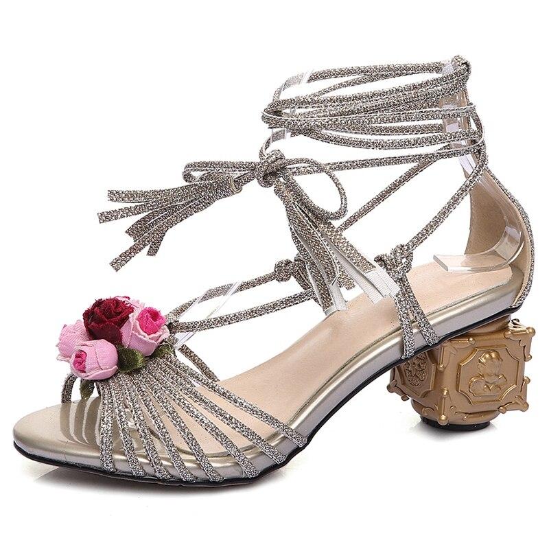 Mujer Anmairon sliver Moda Extraño Tobillo Tamaño Las De Sandalias Verano 43 Correa Estilo Gold 33 Mujeres Casual Zapatos Zandalias Ly697 YYvxqHr