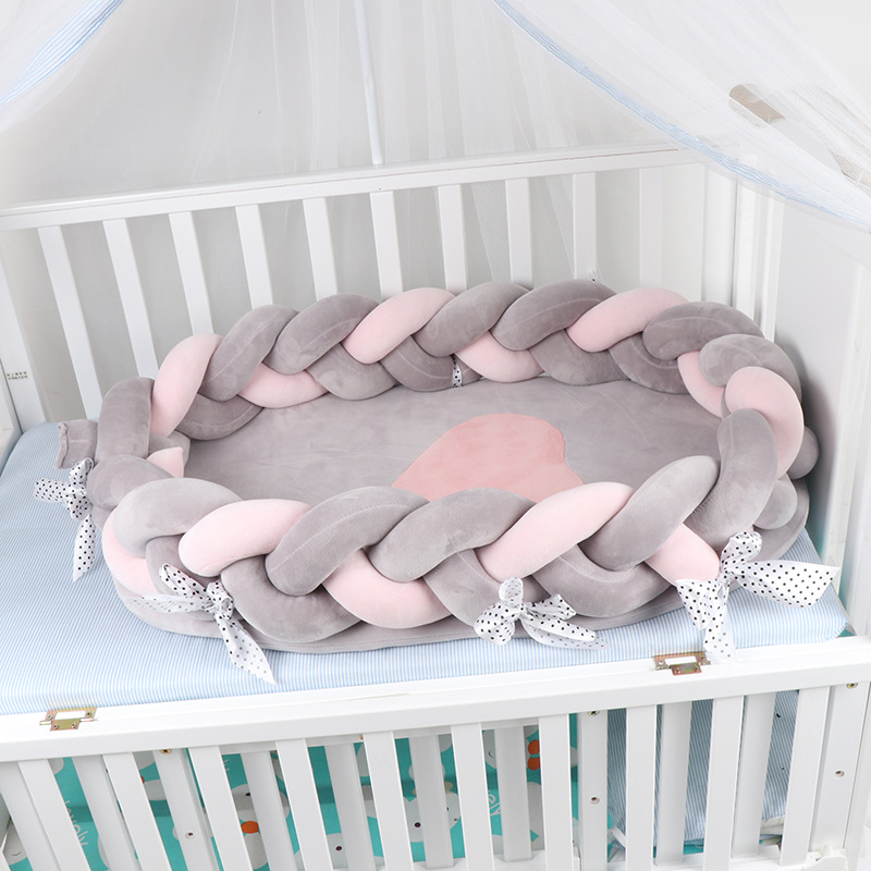 Dropshipping Portable Baby Crib Nursery Travel Folding Baby Bed Infant Toddler Sleep Nest Cotton Cradle Babies Cot Bassinet