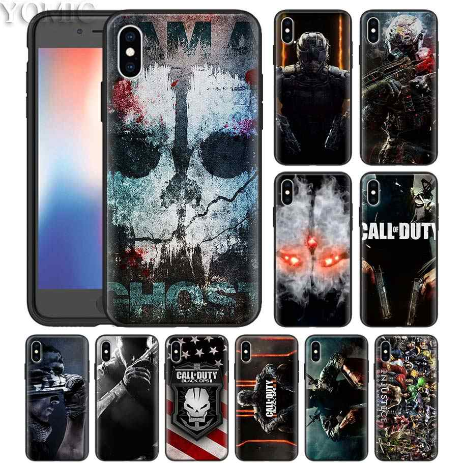 cool Call of Dutys Superheroes Phone Case for iPhone XS 7 8 Plus 6 6s Plus XR XS MAX 5 5S Black Silicone Soft Case Cover 11 Pro