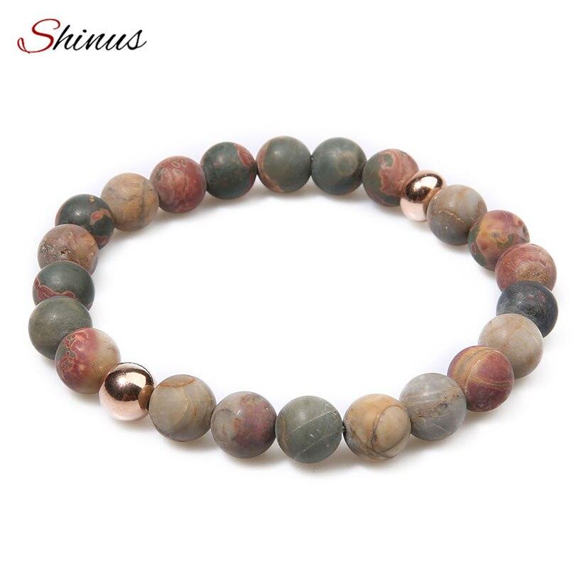 Shinus Bracelet Femme Chakras Bracelets Men Meditation Matte Mala Natural Stone Women Jewelry Boho Bijoux Buddhist 2017 Fashion