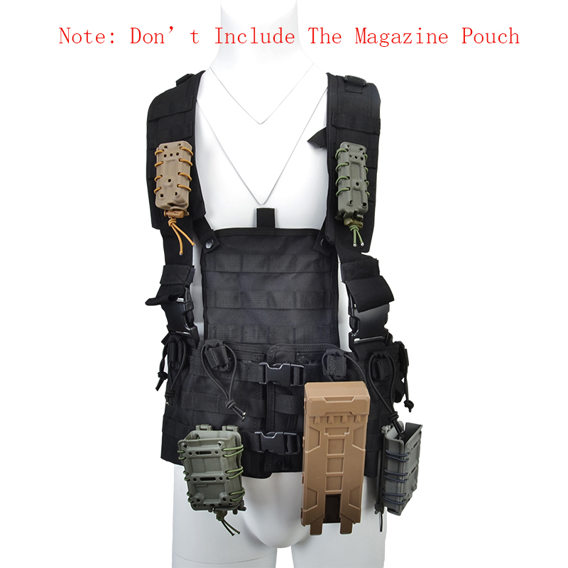 Tactical MOLLE Vest for Magazine Pouch Modular Chest Black AR 15 Rifle M4 Airsoft Accessories Water Bag Tactical Vest Armor accessories bag quick tug tactical vest accessory box page 4