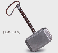 Big size 42cm Avengers Thor's Hammer Action Figures PVC brinquedos Collection Figures toys for christmas gift by EMS