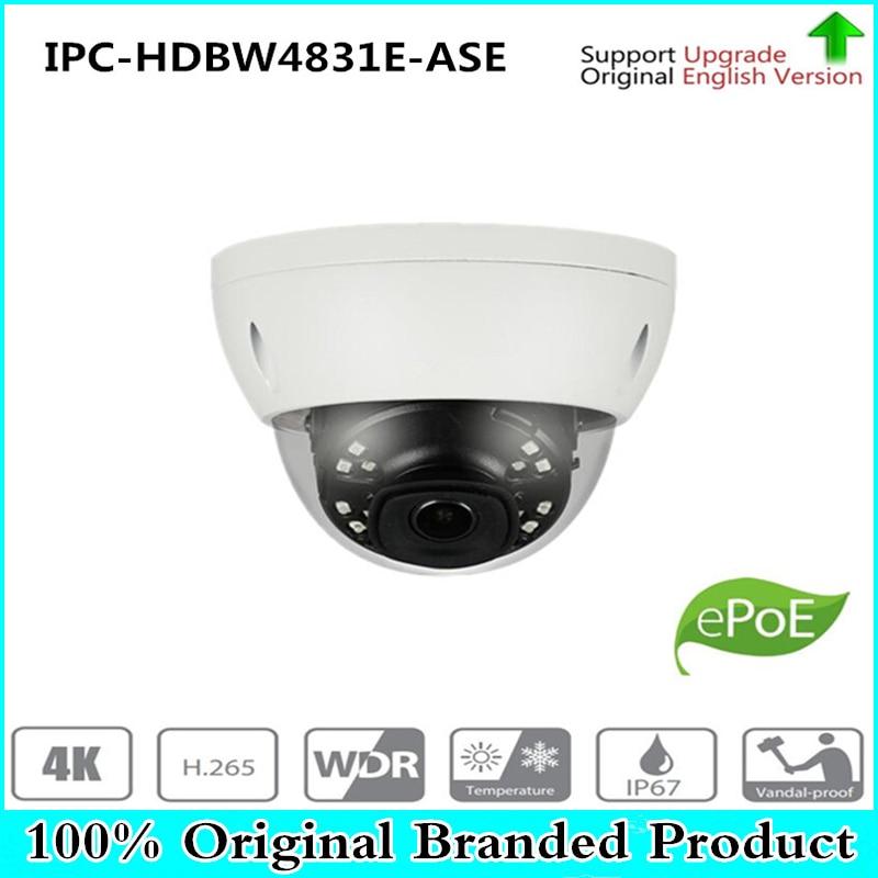 DH IPC-HDBW4831E-ASE H.265 Original Dahua Audio Dome Camera 8MP 4K HD IR Night Vision Network Camera IPC-HDBW4830E-AS With LOGO free shipping dahua cctv camera 4k 8mp wdr ir mini bullet network camera ip67 with poe without logo ipc hfw4831e se